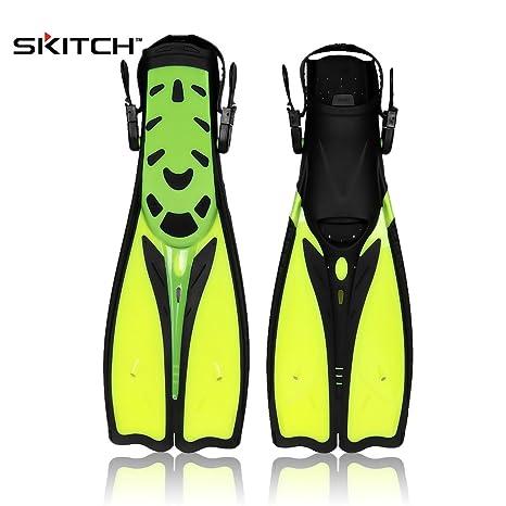 SKITCH 1 Par Unisex Adultos Jóvenes Natación Aletas Foot Flipper Buceo  Equipo Snorkel Entrenamiento Flippers Deportes afe06866227