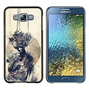 Eason Shop / Premium SLIM PC / Aliminium Casa Carcasa Funda Case Bandera Cover - Acuarela Mujer Significado Profundo - For Samsung Galaxy E7 E700