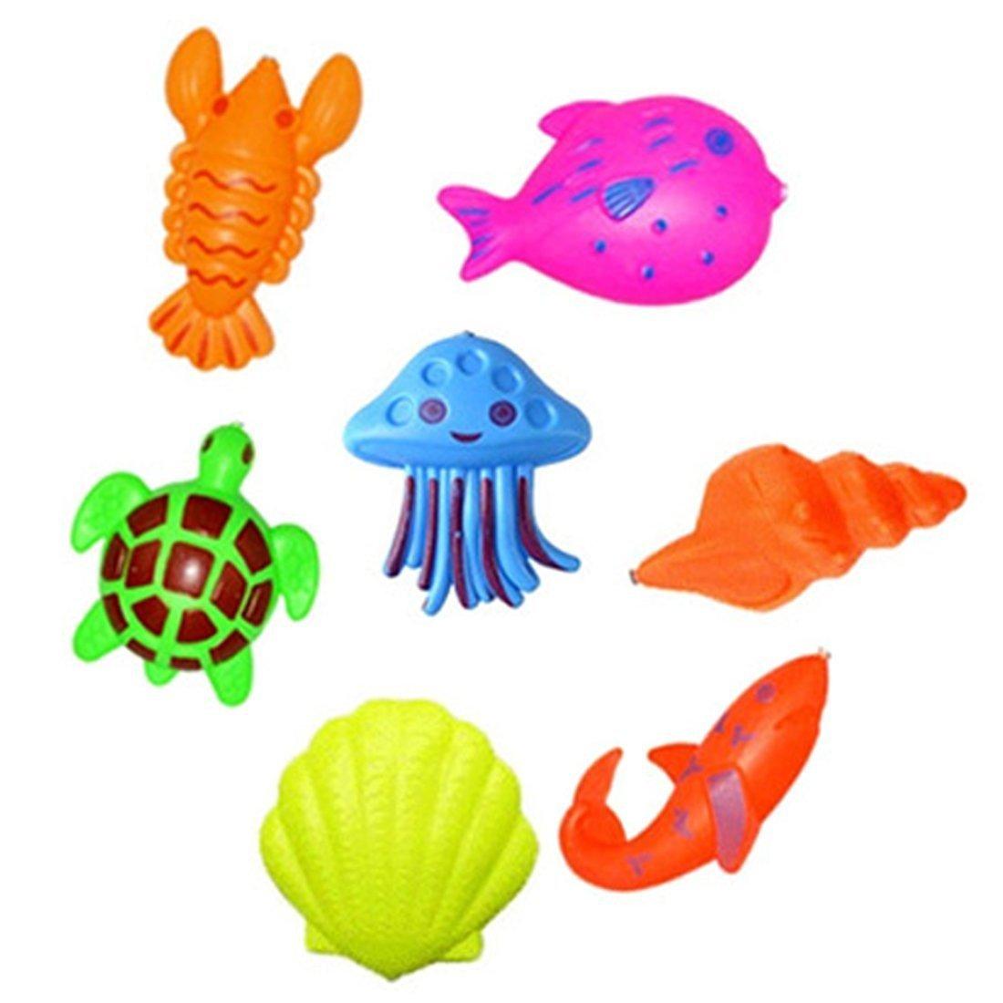 JIMS STORE Giocattolo da Pesca 32 Pezzi Bagno Giocattolo Bambino Giochi da Pesca Magnetico Educativi Giocattolo Divertente allAperto Regali Ottimi per Bambini Piccoli