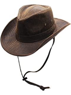 c6a2b6a8e1a Men s Weathered Outback Hat Outdoorsmen Shapeable Hats by Silver Canyon