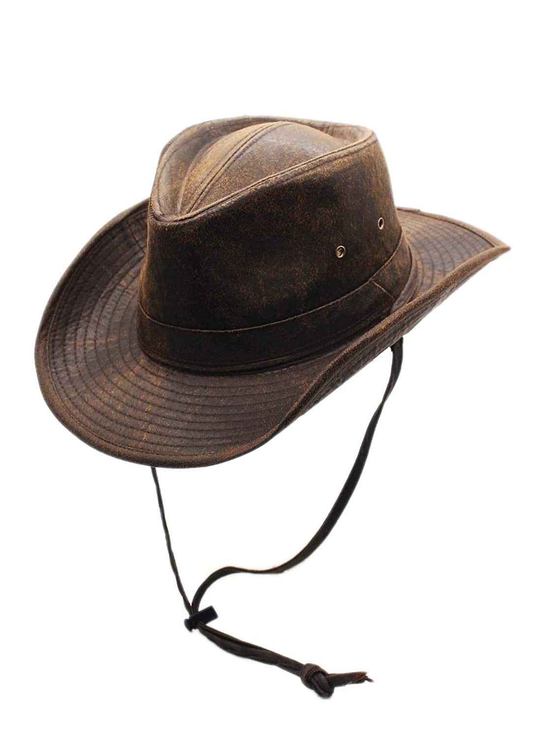 ea34da641 Weathered Outback Outdoorsmen Shapeable Hat, Silver Canyon, Brown