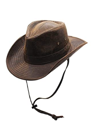8818d1bb991 Men s Weathered Outback Hat Outdoorsmen Shapeable Hats by Silver Canyon