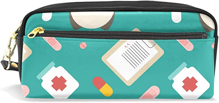 FANTAZIO Estuche para lápices de gallipot enfermera medicina bolsa de maquillaje: Amazon.es: Bricolaje y herramientas