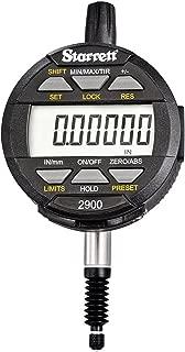 "product image for Starrett 2900-1 LCD Electronic Indicator, 0.375"" Stem Dia., 0-0.5""/0-12mm Range, 0.00005""/0.001mm Graduation"