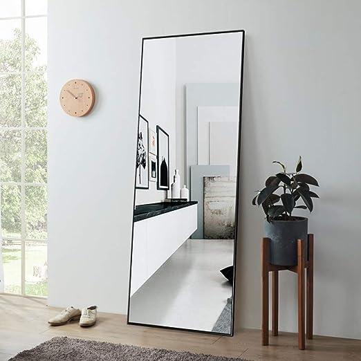Home Kitchen Home Decor Pexfix Rectangular Full Length Mirror Bedroom Floor Mirror Standing Or Hanging 65x22 Bronze Brif Rs