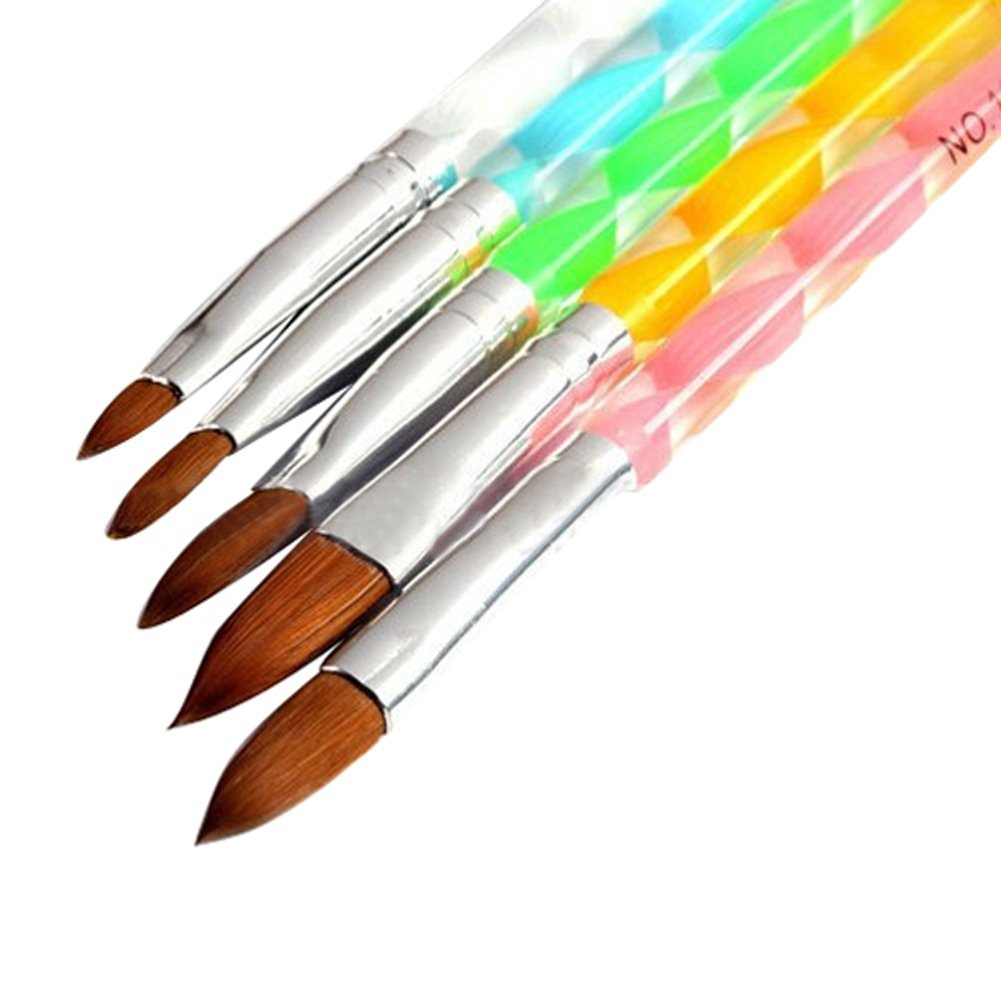 5x Acryl Design 3D-Malerei Zeichnen UV-Gel DIY Brush Pen Werkzeug Nail Art Set Suberde