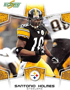 2008 Score Football #252 Santonio Holmes Pittsburgh Steelers Official NFL Trading Card From The Donruss Playoff Company
