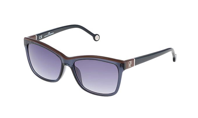 Carolina Herrera SHE598550W47 Gafas de sol, Azul, 55 para ...