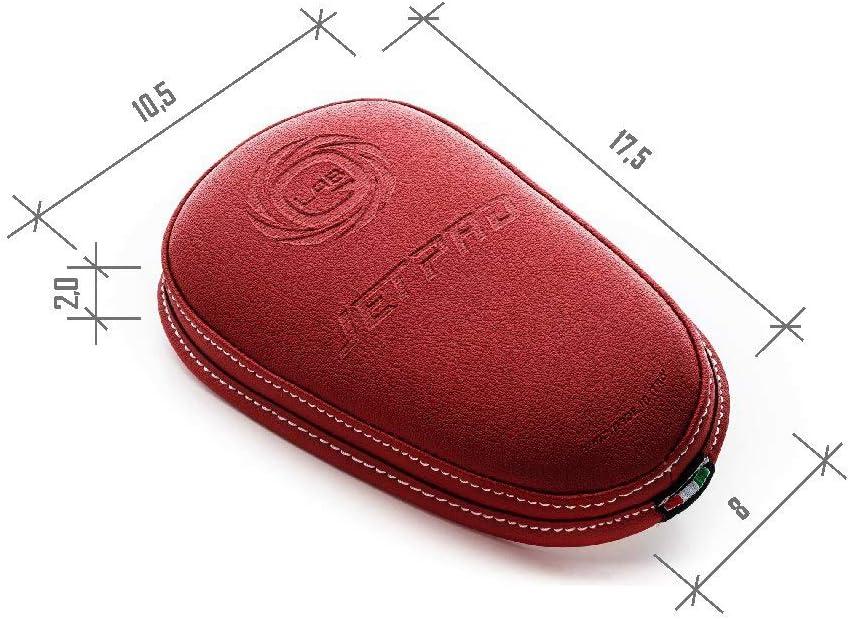 JetPad R Adesivo Universale Copri Serbatoio per Moto Biadesivo 3M e imbottitura comfort Cuscinetto Paraserbatoio Impermeabile Copertura di Protezione per il Serbatoio in Eco Pelle Color Rosso
