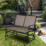 Giantex Patio Glider Stable Steel Frame for Outdoor