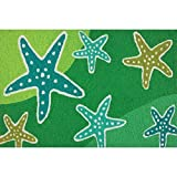 Jellybean Cool Starfish Stream Shades of Green Washable 21 X 33 Area Accent Rug Review