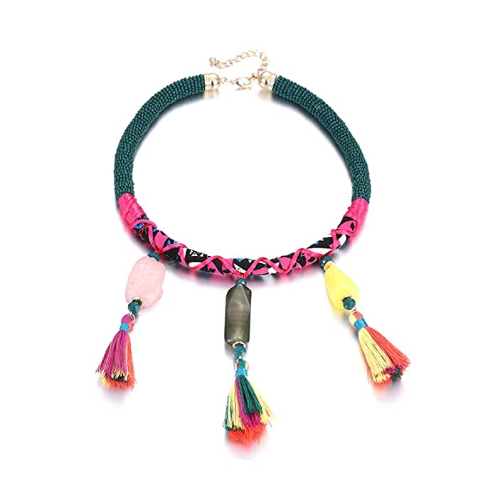 9420888c2218 ZXM xl Color Resina Moda Collar Hembra Corto Borla Collar Accesorios Regalo  De Cumpleaños