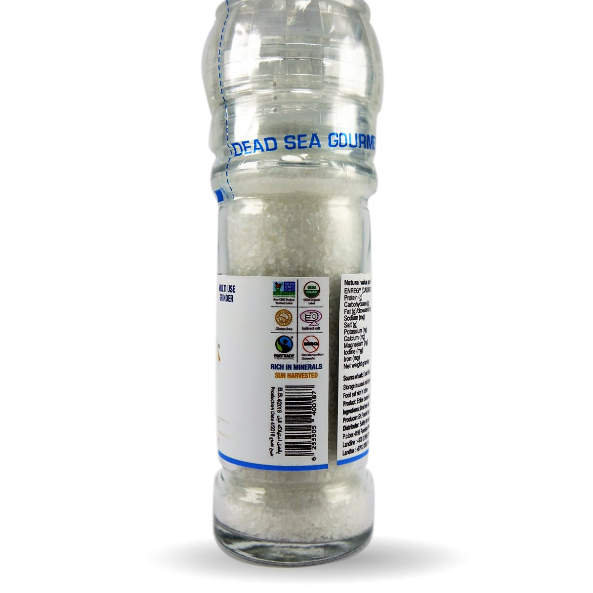 Hyksos Natural Edible Coarse Salt 3.9 oz - Multi Use Grinder by HYKSOS (Image #2)