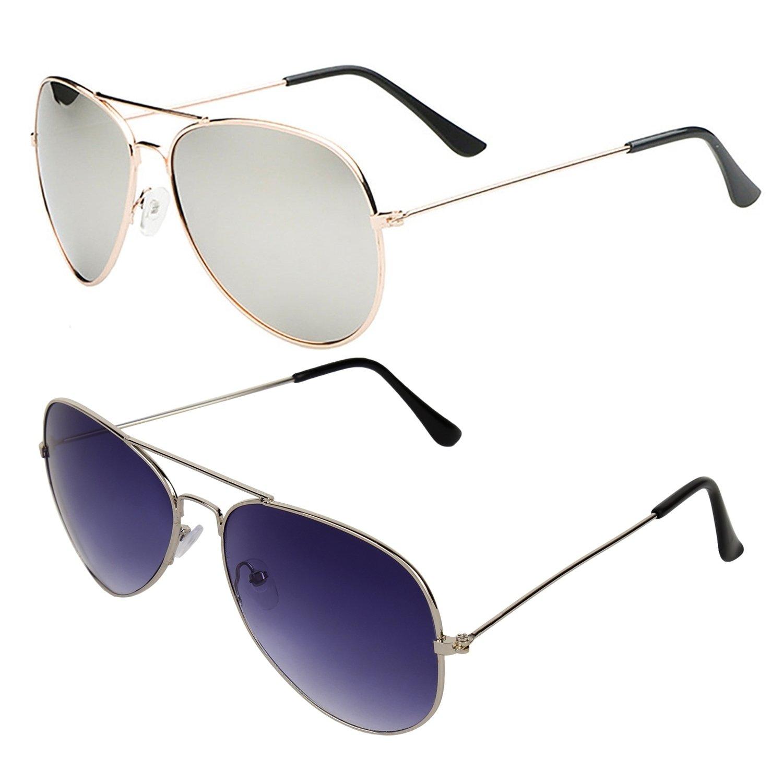 7a9c8ae38cde Sheomy Aviator Sunglasses Combo (Silver) (Sun-120): Amazon.in: Clothing &  Accessories