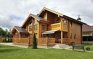 ECOHOUSEMART | Laminated Log House Kit | Eco friendly | Prefab DIY Building Cabin Home | GLT Engineered Wood Glulam | Gross Area: 2900 Sq Ft