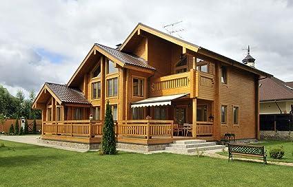 Amazon com: ECOHOUSEMART   Laminated Log House Kit   Eco friendly
