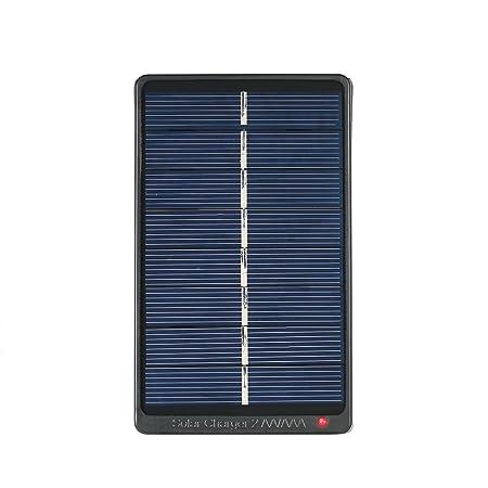 Decdeal - 2x AA/AAA Cargador Solar para Baterías Recargables 1W 4V Panel Solar para Carga de Pilas