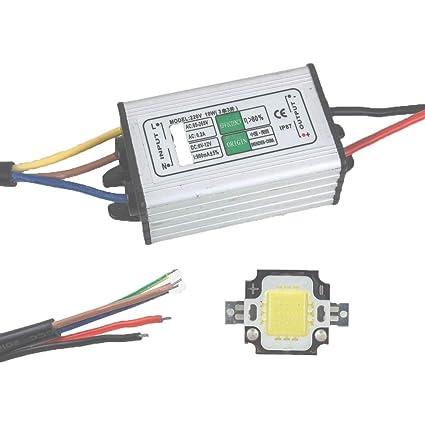 ALCOMPRA 10W LED Controlador Impermeable IP67 Fuente de ...