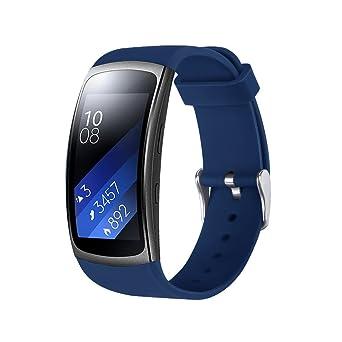 Correa de Relojes Casual, YpingLonk Silicona Adecuado para Samsung Gear Fit2 Pro Watch Interior Deportiva Fitness Gimnasio Moda Ajustable Más Colores ...