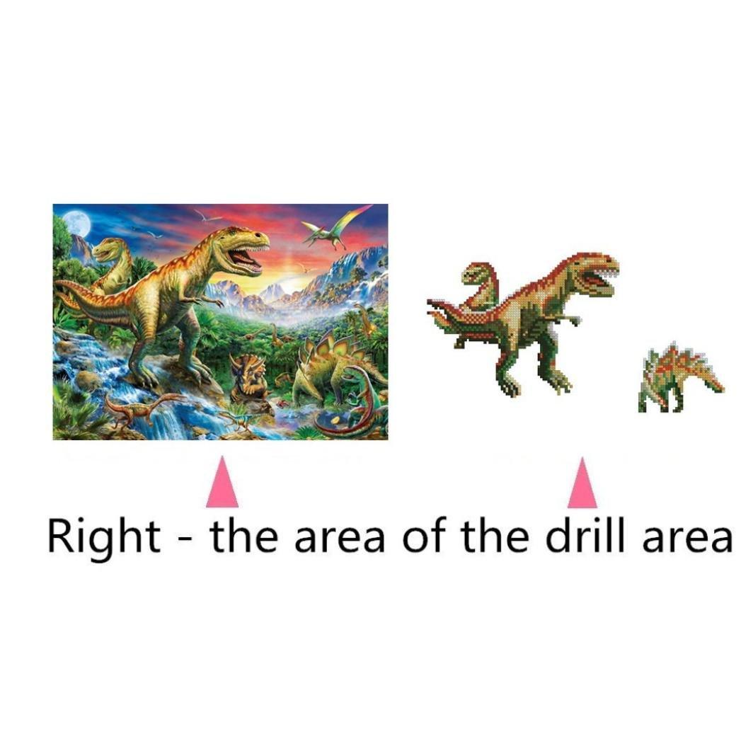 Rameng- Pintura Diamante Dinosaurio, 5d Kits de Bordado DIY ...