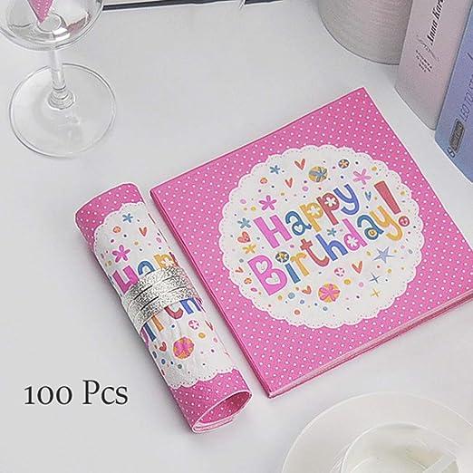 Servilletas de papel de cumpleaños, 33x33cm / 13x13 ...
