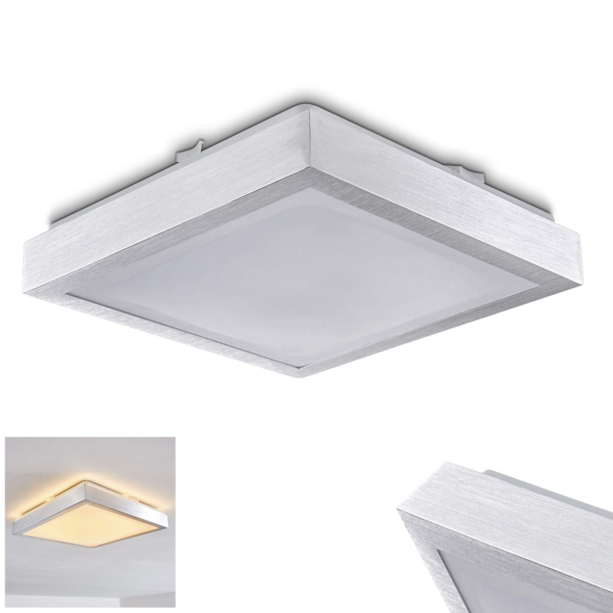 Led ceiling lamp wutach square led metal ceiling lamp in white bathroom lamp ceiling light corridor living room lamp dining room lamp 3000