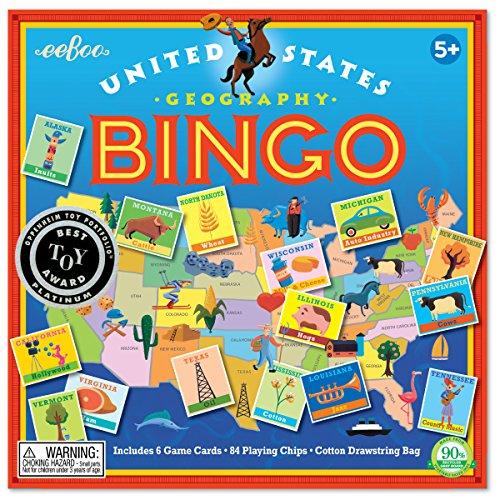 eeBoo United States Bingo Game for Kids