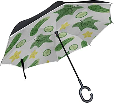 Double Layer Inverted Inverted Umbrella Is Light And Sturdy St Valentine S Day Pattern Reverse Umbrella And Windproof Umbrella Edge Night Reflection