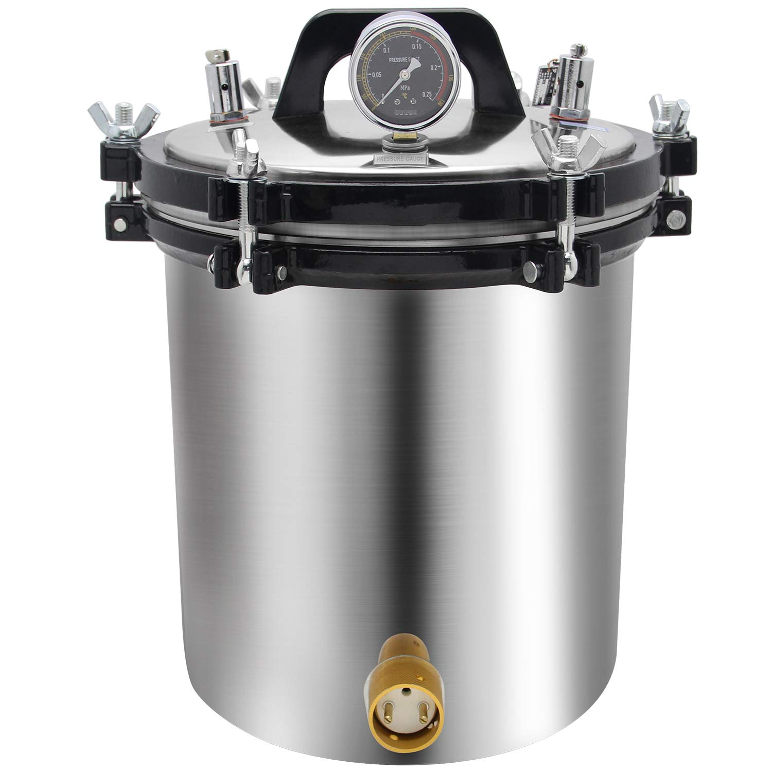 BAOSHISHAN 18L Steam Autoclave 4.7 Gallon Steam Lab Autoclave Coal and Electric Heating System Available High Pressure Autoclave 110V (18L)
