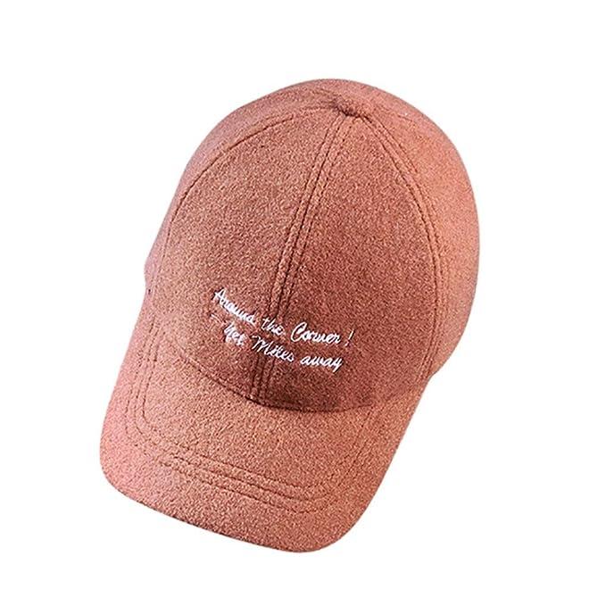 68b8a21b2d5bfb GreatestPAK Caps Frauen Männer Snapback Brief Schirmmütze Baseball Kappe Unisex  Hip Hop Flachhut (Einheitsgröße,