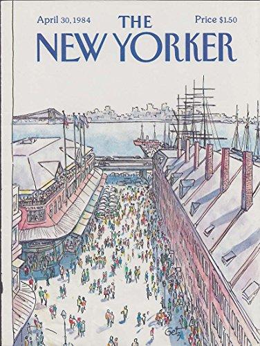 Fish Market Fulton (New Yorker cover 4/30 1984 Getz Fulton Fish Market Brooklyn Bridge)