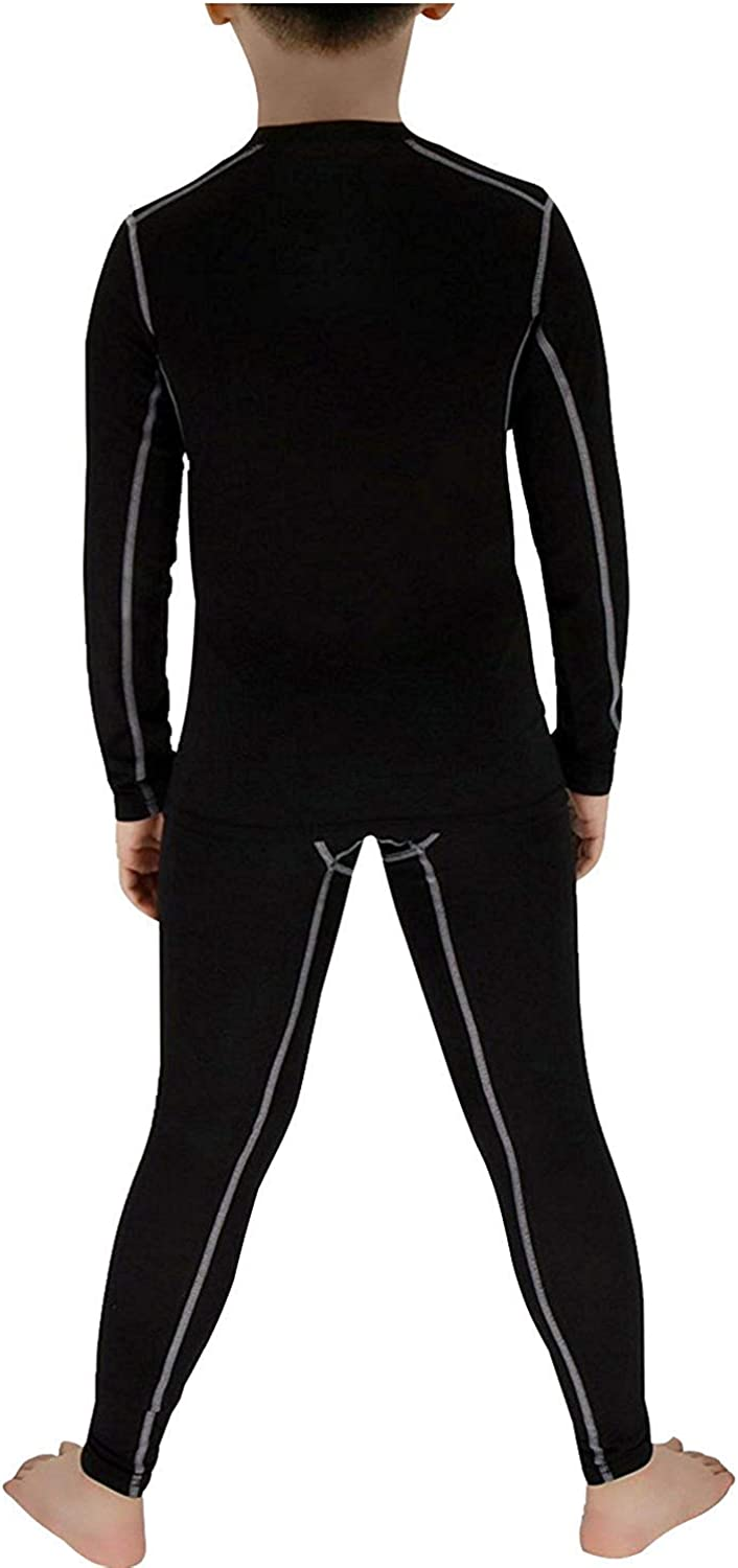 Boys Girls Compression Set Youth Football Pants and Shirts Base Layer Long Underwear
