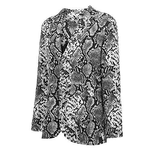 Travail Foncé Imprimer Outwear Gris Hiver D'affaires Manches Longues De Costumes Femmes Formelle À Keerads Manteau Chic Vêtements Mode Élégant Costume Automne wpngTAqR