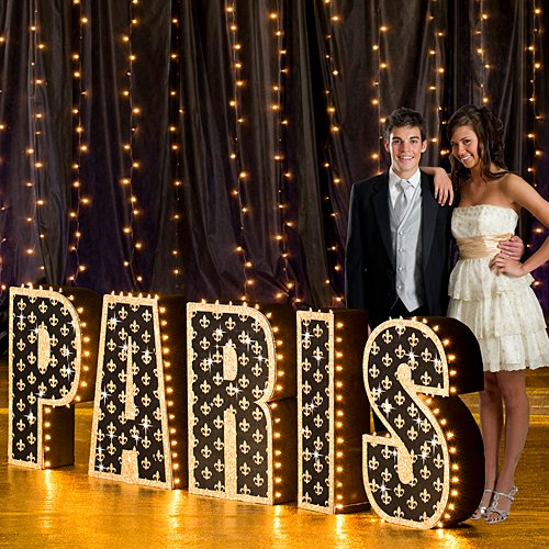 (2 ft. 9 in. Tres Chic Paris France Letter Set Standup Photo Booth Prop Background Backdrop Party Decoration Decor Scene Setter Cardboard Cutout)