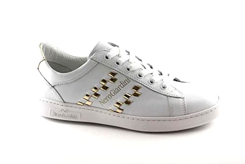 17270 BIANCO Scarpa donna sneaker Nero Giardini pelle made in italy ys36qa6N