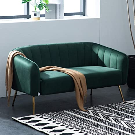 Fine Warmiehomy Modern Velvet 2 Seater Sofa 2 Tub Chair Sofa Seating Double Couch Lounger Living Room Furniture Dark Green Forskolin Free Trial Chair Design Images Forskolin Free Trialorg