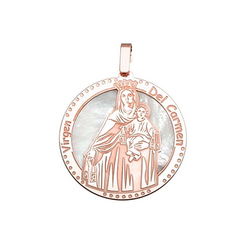 8918 bano rosa Virgen Carmen n/ácar 30mm Medalla plata ley 925m