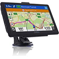 SAT NAV with 7 inch Pre-Installed 2019 Europe UK Ireland Maps(FREE Lifetime Map Updates), OHREX GPS Navigation for Car Truck Motorhome Includes Postcodes, Speed Camera Alerts & POI Lane Assistance