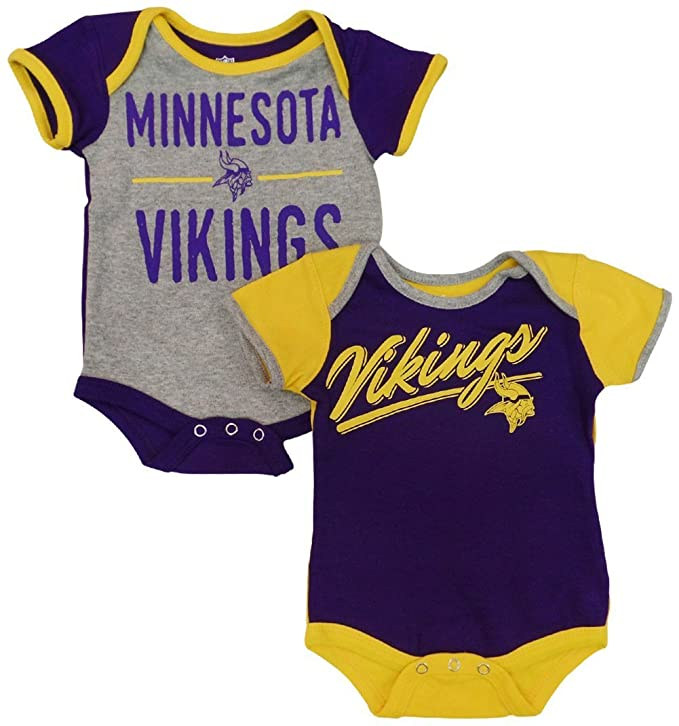 best service c62b5 4b8ed Outerstuff Minnesota Vikings Baby/Infant Descendant 2 Piece Creeper Set
