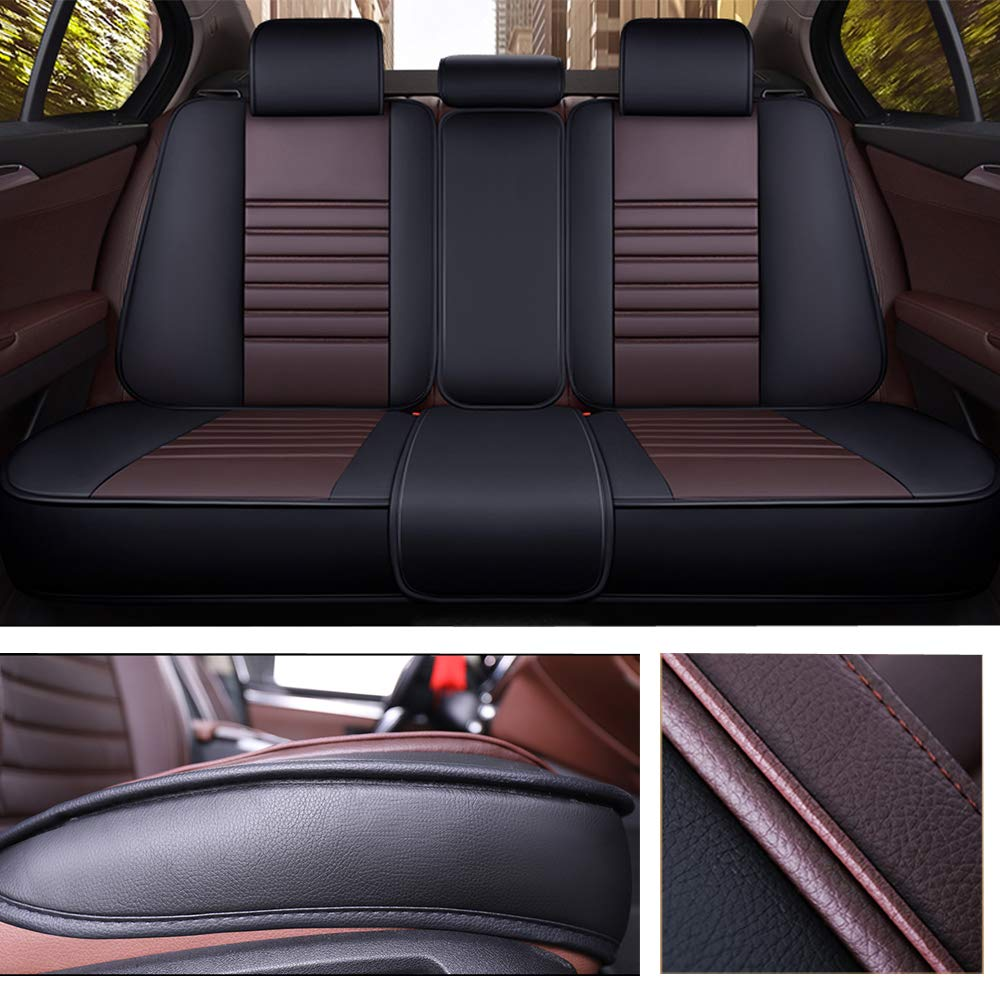 Black/&Blue or Van Waist Pillow for Truck Suv Super PDR Car Seat Cover 13 PCS Universal 5 Seat Full Leather Car Seat Cushion with Headrest