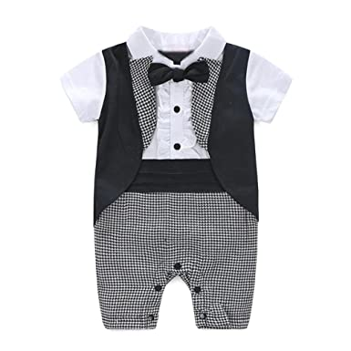 Kingko/® 0-24Months Baby Boy Formal Party Christening Wedding Tuxedo Waistcoat Bow Tie Suit