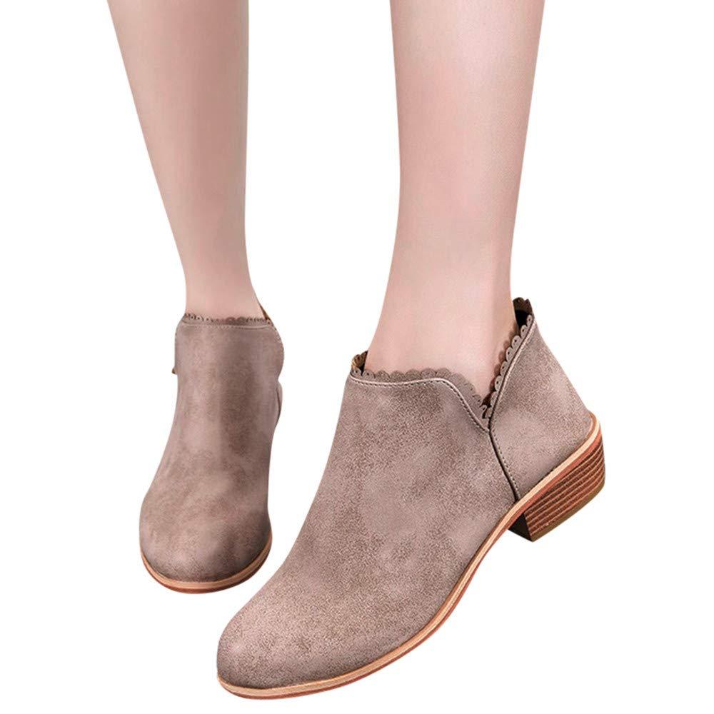 258f7329756a6 AILINGTT Fashion Women Boots Round Toe Martin Boots Classic Ankle ...