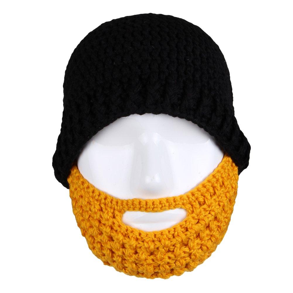 Free Fisher Unisex Knit Stubble Beard Beanie 0049