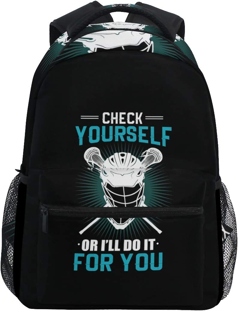Yeorquae Never Trust an Atom They Make Up Everything Funny Science Backpack Casual Daypack College Backpack Travel Laptop Backpack for Men Business Laptop Backpack Casual Daypack Men