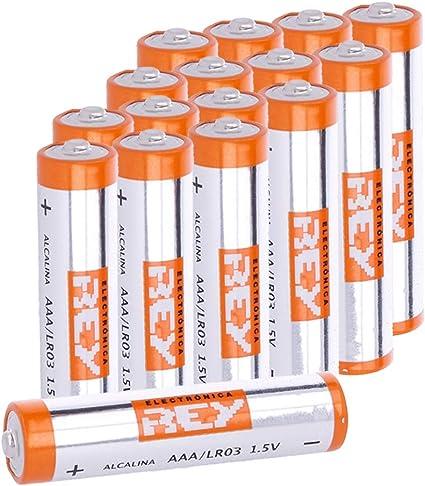 Pack de 16 Pilas Alcalinas AAA LR03 1.5V, Alta Duración: Amazon.es: Electrónica