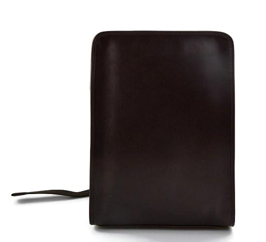Mochila de cuero marron oscuro bolso de hombre piel mochila grande duro de piel bolso de