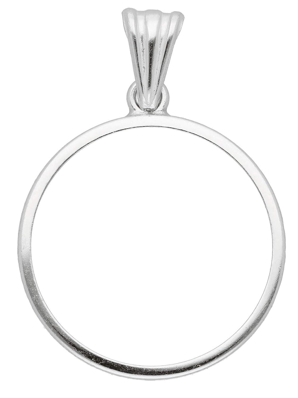 Silber Münzfassung 925 Sterling Silber 20,1 Ø mm