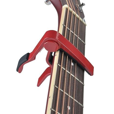 maxcury 6-string guitarra acústica & eléctrica Capo- una sola mano cambio rápido capo