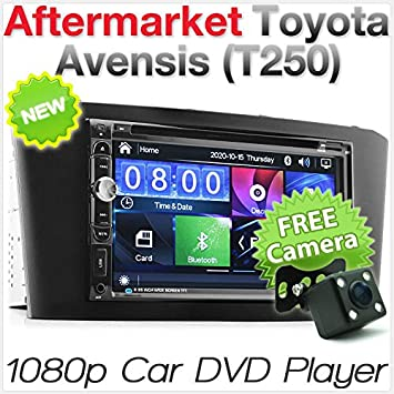 TUNEZ® 7 Inch Car Audio Doble Din Car DVD USB MP3 MP4 Reproductor Radio Stereo Head Unit CD para Toyota Avensis 2003 2004 2005 2006 2007 2008 T250