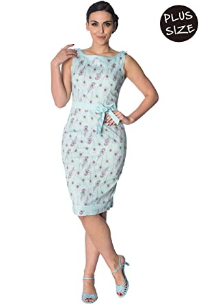 Banned Plus Size Peacock Vintage Retro Fifties Style Pin Up Wiggle